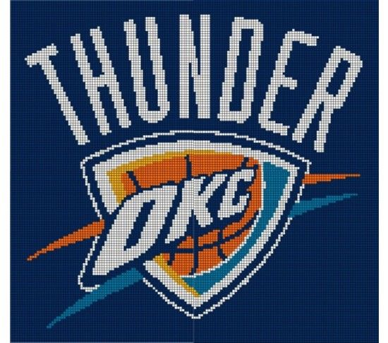 Oklahoma City Thunder Crochet Pattern Afghan Graph ...