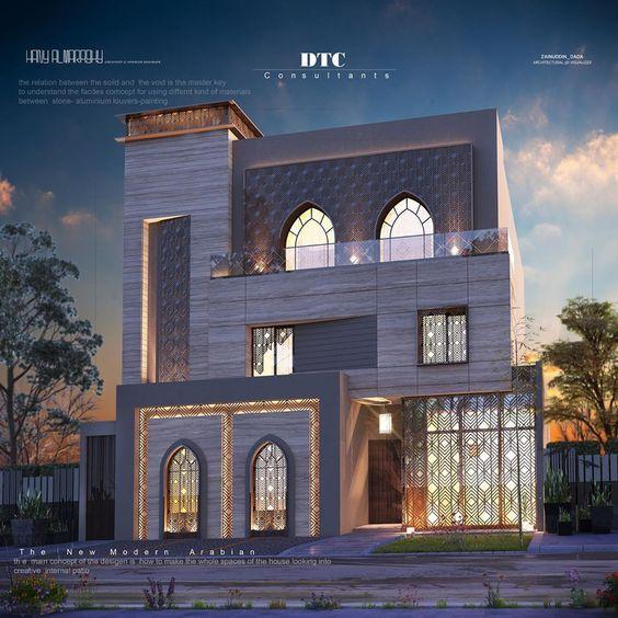 Modern Arabian Residence فيلا سكن خاص الفنيطيس تصميم دار طاهر للاستشارات الهندسية عنوا House Styles Mansions House