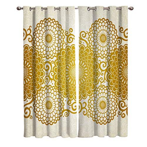 Wanxinfu 2 Panel Kitchen Cafe Curtains Arabian Embroidery Decorates Peonies Sunlight Filtering Nature Air Through In 2020 With Images Window Coverings Curtains Curtains Bedroom