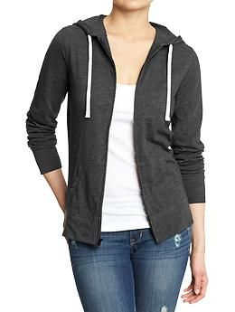 Womens Lightweight Zip-Front Hoodies | Summer Wardrobe | Pinterest ...