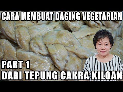 Cara Membuat Daging Palsu Vegetarian Dari Tepung Cakra Kiloan Youtube Vegetarian Daging Resep Vegetarian