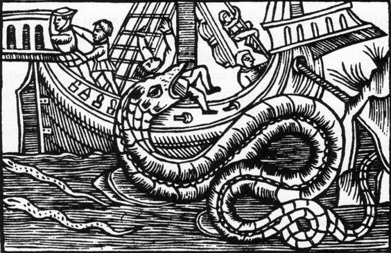Eine Abbildung aus Loaus Magnus Buch über die Geschichte der nordischen Länder 1555