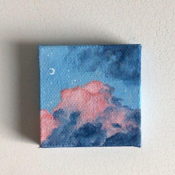 40 Easy Acrylic Painting Ideas On Canvas Mini Art Cute Paintings