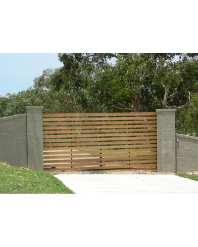 how to build a timber picket sliding gate