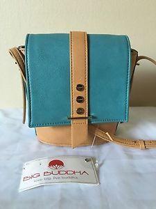 Big Buddha Teal Crossbody Satchel Shoulder Bag | eBay
