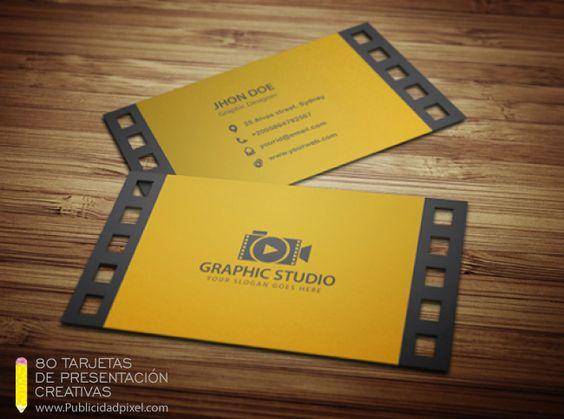 ejemplos de tarjetas de presentacion llamativas
