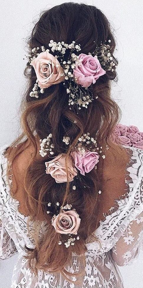 Pinterest Pawank90 Flowers In Hair Wedding Hairstyles For Long Hair Long Hair Styles