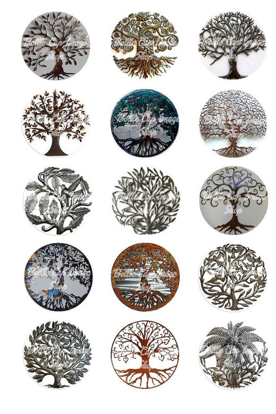 Tree Of Life Metal Collage Sheet 1 inch by Bottlecapimageshop, $1.75