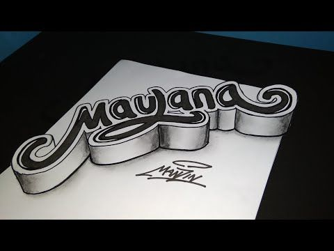 Tutorial Cara Membuat Tulisan 3d Di Kertas Youtube In 2020 Chalk Writing Tatoos Drawings