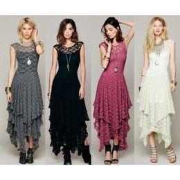 Vestido Longo de Renda (4 cores)