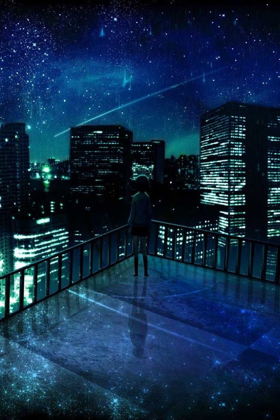 Anime Night Sky: This Picture Speaks To Me. It Reminds Me Of My Novel