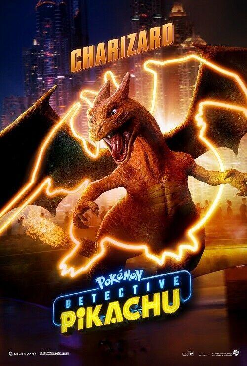 Charizard Pokemon Detective Pikachu Poster Movie Art Film Print