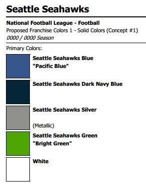 Seattle Seahawks Colors | #Gohawks | Pinterest | Paint ...
