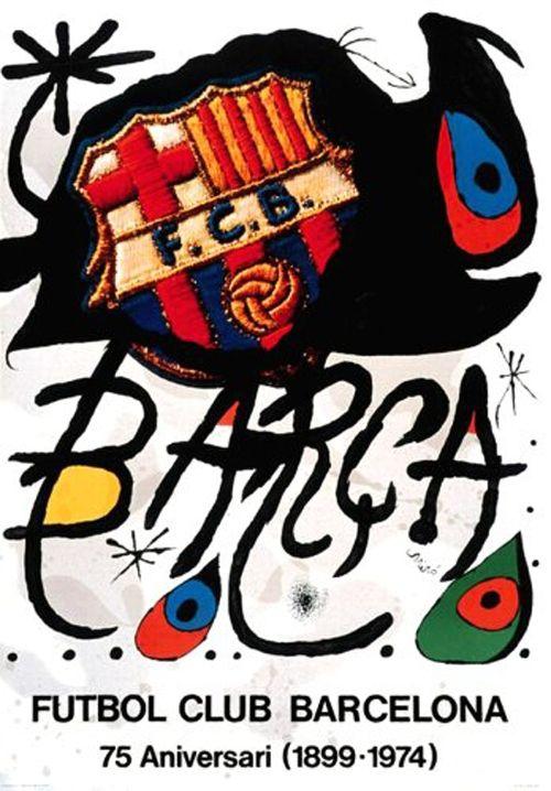joan mir barca fc barcelona 1974 f c barcelona love pinterest poster barcelona and. Black Bedroom Furniture Sets. Home Design Ideas