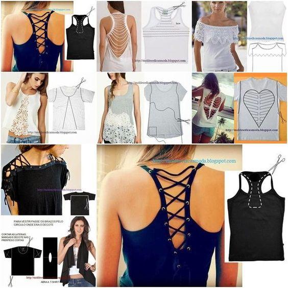 Ideias 11wonderful remodelar camisa em Chic Top 25 F Inspirado ideias para transformar os seus velhos Shirts