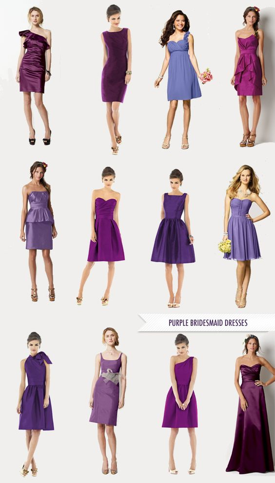 purple bridesmaids dresses: