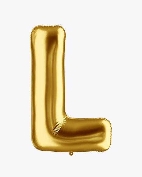 Download Download Letter L Foil Balloon Mockup Psd Mockup Free Psd Mockup Downloads