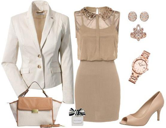 Abendoutfit mit Golddetails ♥ Hier kaufen:  http://stylefru.it/s974389  #Abendoutfit #Blazer #gold #Pailletten