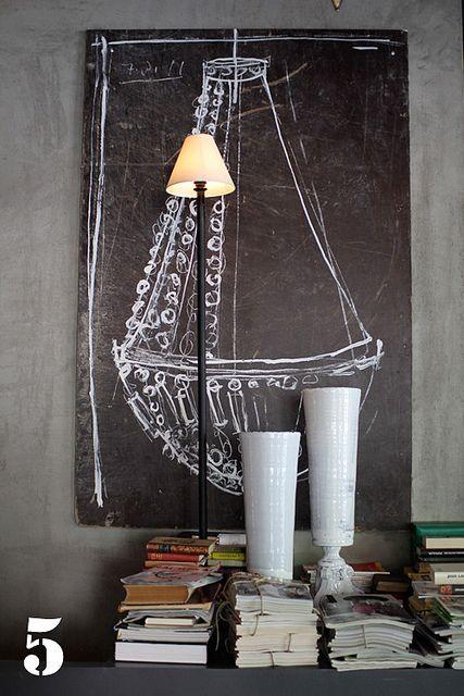Chalkboard: Chalkboard Chandelier, Chalkboards, Chalk Chandelier, Chalk Drawing, Chalkboard Paint, Chalk Boards, Chalkboard Idea, Chalkboard Art