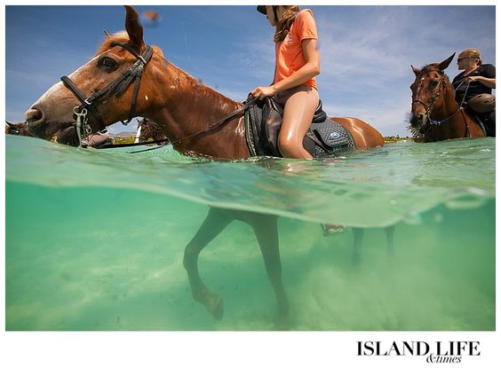 What to SEE & DO in Turks and Caicos: Horseback Riding on the Beach. Courtesy of @Travel + Leisure   #DestinationFabulous