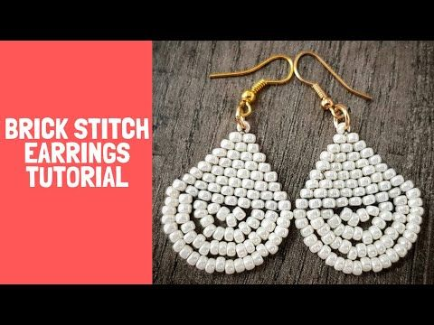 20 Stitch Brick Tear Drop Wedding Earrings Youtube Earring