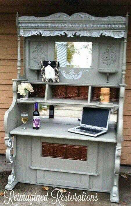 Repurposed piano to bar - wonder if I could do this with mom's old ...