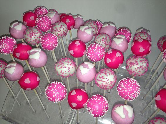 Cakepops voor een babyshower