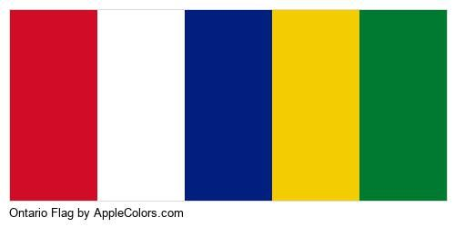 Ontario Flag Color In 2020 Flag Colors Color Palette Flag