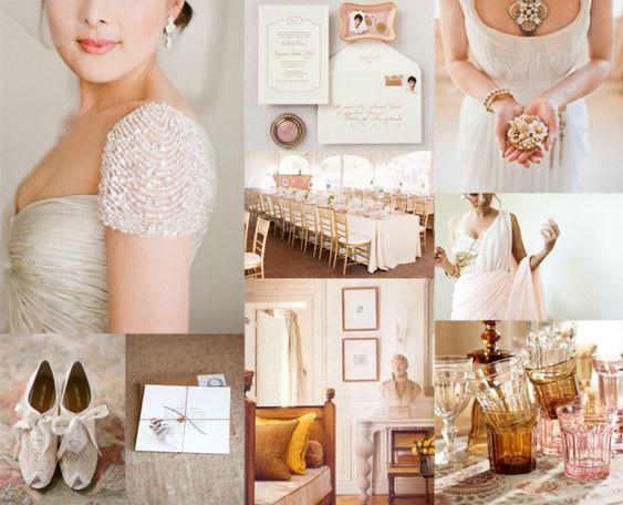 Amber color wedding