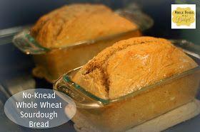 Whole Foods On A Budget: No Knead Sourdough Loaf Bread