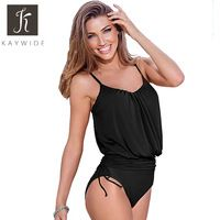 Kaywide Pleated Lace Up Rompers Women's Jumpsuit 2016 Summer Strap Sexy Slim Swimsuits Woman Bodycon Bodysuit Plus Size Playsuit