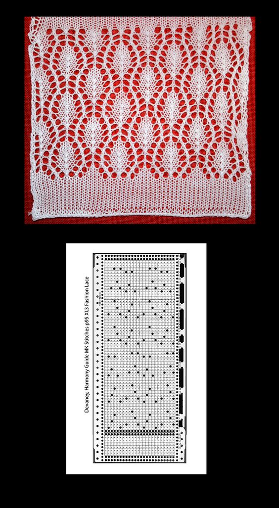More beautiful machine knit lace: