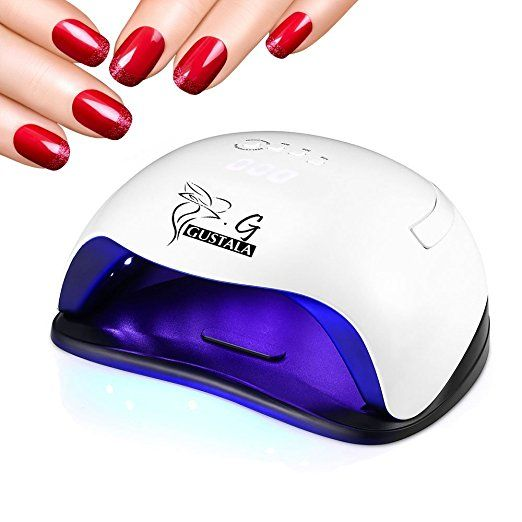 54w Uv Led Nail Lamp Dryer For Gel Polish Gustala Gel Nail Lamps Curing Lamp With 36 Dual Light Source Leds 4 Timer Setting W Led Nail Lamp Uv Led Gel Polish