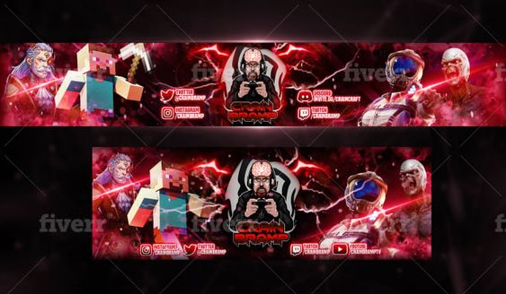 I Will Design Youtube Banner Twitch Twitter And Gaming Banner Ad Ad Banner Youtube Design Gaming In 2020 Gaming Banner Youtube Banners Youtube Design