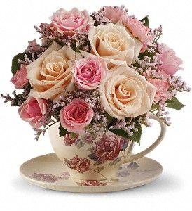 Teleflora's Victorian Teacup Bouquet: