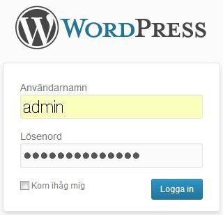 wordpress-inlogg