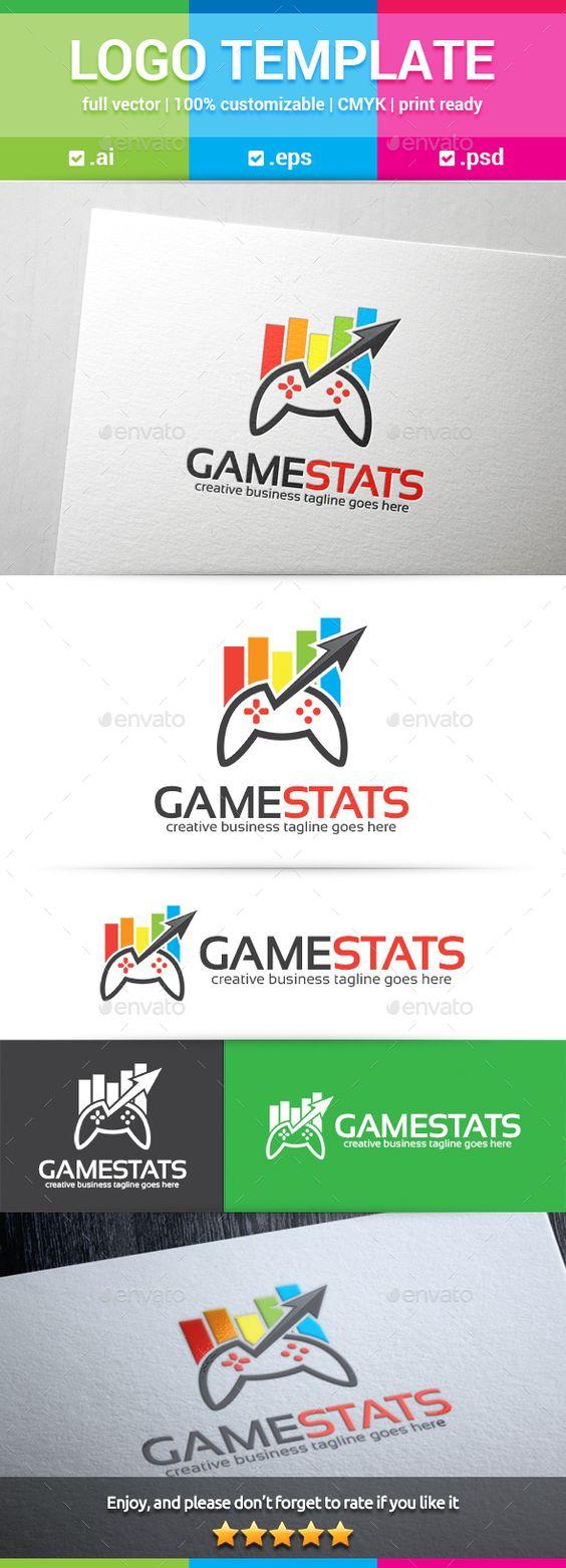 Games Stats Logo Template Psd Vector Eps Ai Illustrator Logo Templates Logo Templates Psd Logo Design Template