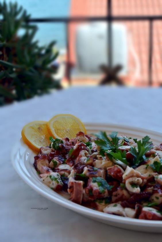 Insalata di polipo alla siciliana Ricetta tradizionale @vicaincucina