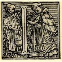 Holbein Alphabet 1526: Initial L