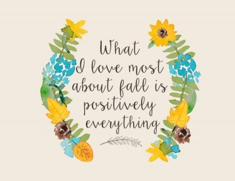 What I love most about fall printable