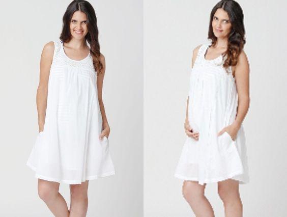 Stunning Ripe Maternity Airlie Voile 100% Cotton Sundress - White ...