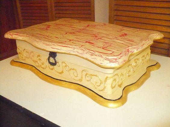 Cofre de madera pintado a mano baules y cofres trunks - Baules pintados a mano ...