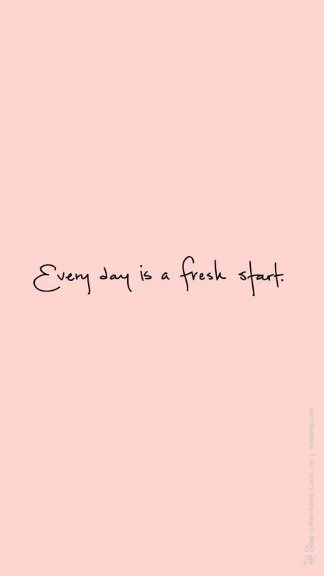 fresh start: