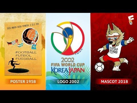 Fifa World Cup Logos Posters And Mascots Through The Years 1930 2018 Footchampion Fifa World Cup 2018 World Cup Logo Fifa World Cup