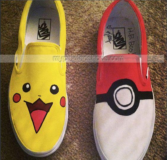 #Pokemon Shoes Custom Pokemon Shoes Slip-on Painted Canvas Shoes