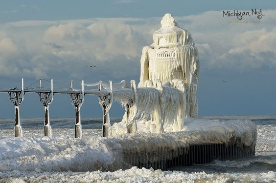 St. Joseph Lighthouse on ice