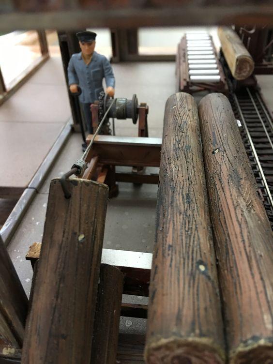 Gustaf pulling logs