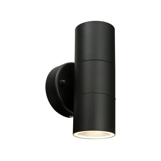 Blooma Somnus Black Mains Powered External Up u0026 Down Wall Light - Bu0026Q for  all your home and garden