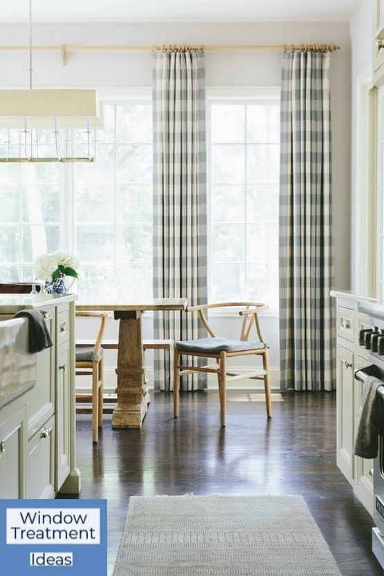 One Of The First Things You Do When You Remodel Or Move Into A New Home Is Change The Curtains After All New Window Treatments E Home Interior Plaid Curtains