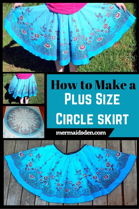 How To Make A Plus Size Circle Skirt Sewing Machina
